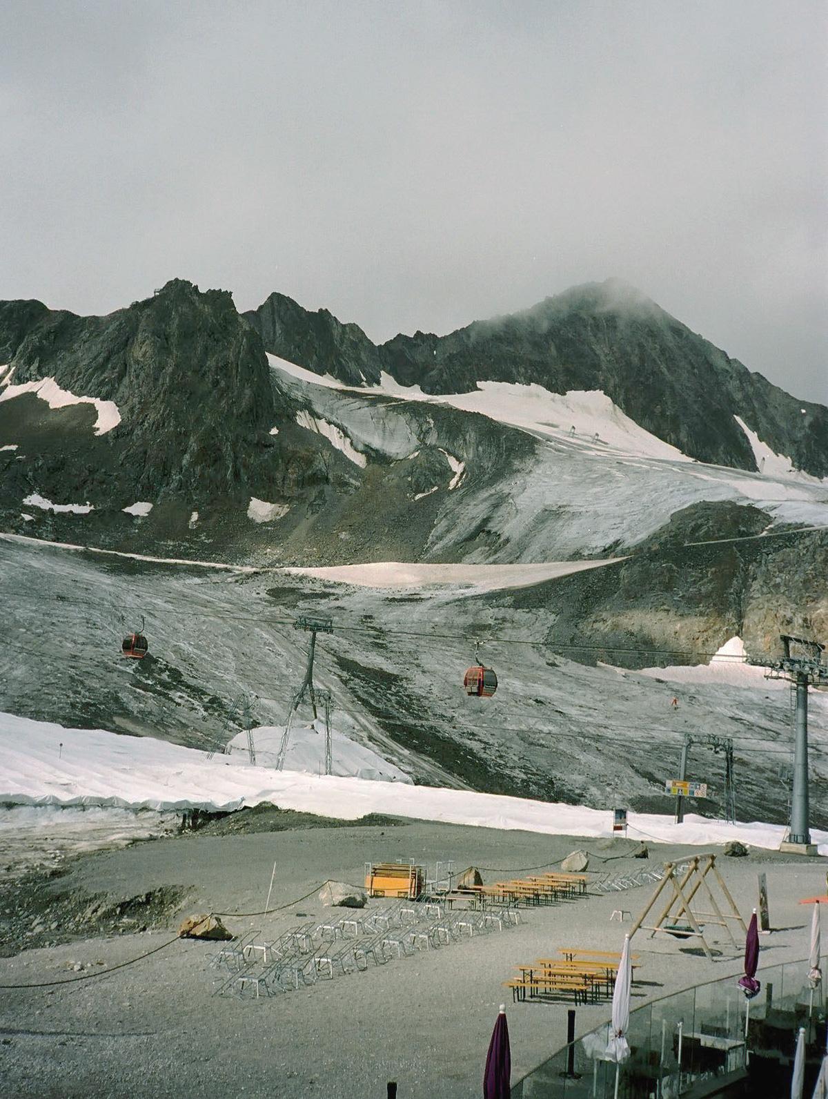 Blick auf den Stubaier Gletscher