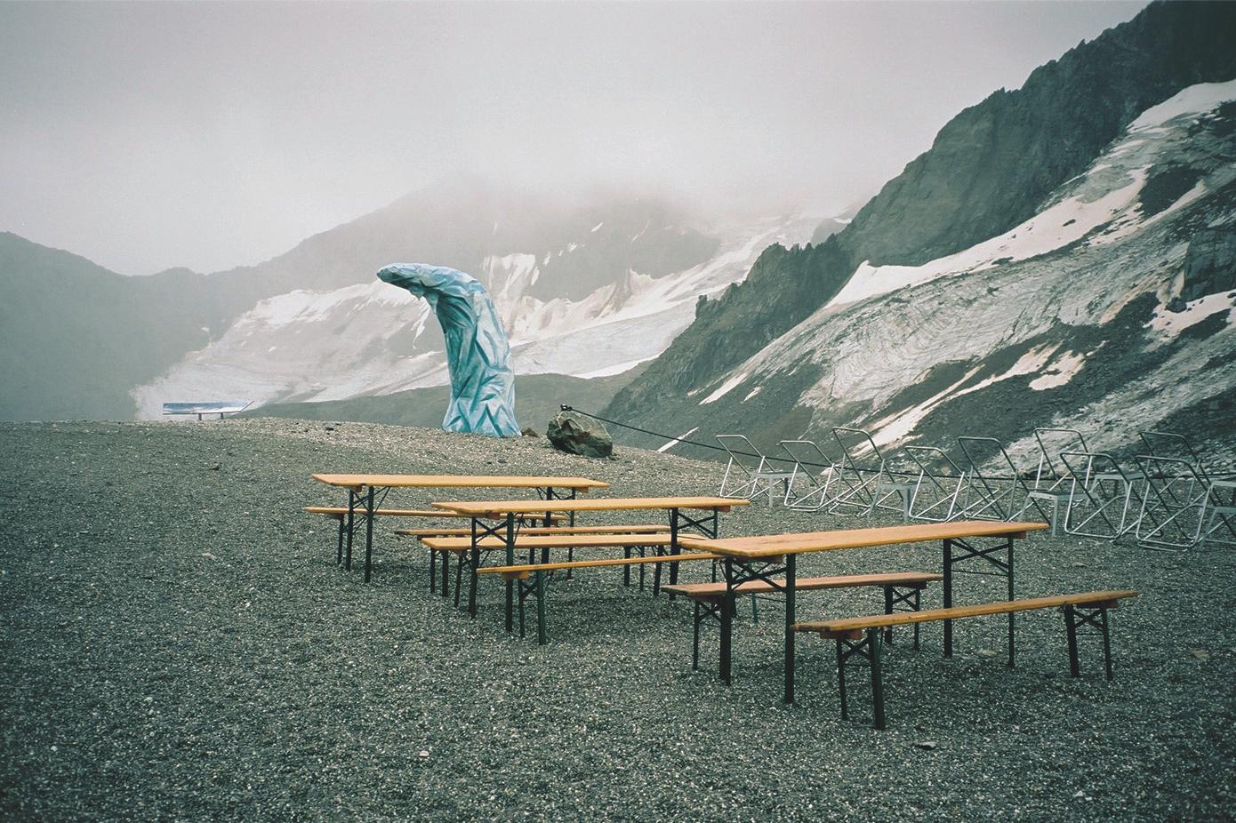 Eisgrat und Gletscher